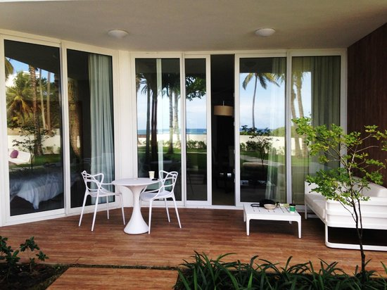 Ultravioleta Boutique Residences: our terrace...check out the view in the reflection