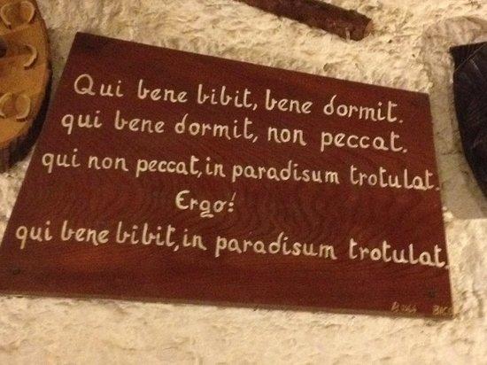 Cantina Tipica Bressan: Bere bene