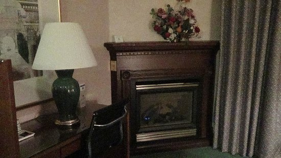 Comfort Inn Port Hope: Fire place in room 303