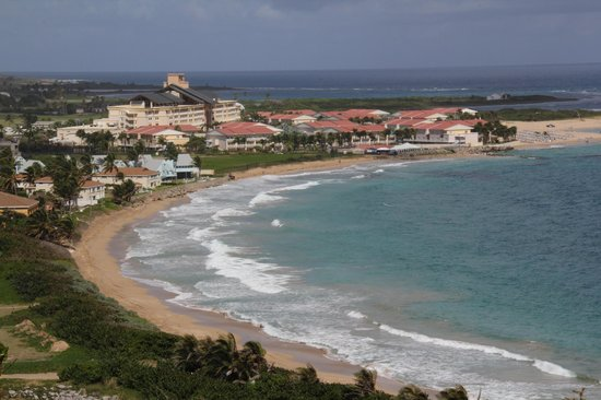 St. Kitts Marriott Resort & The Royal Beach Casino : View of Marriott from Timothy's Hill