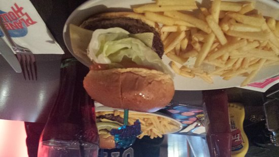 Planet Hollywood: burger and chips