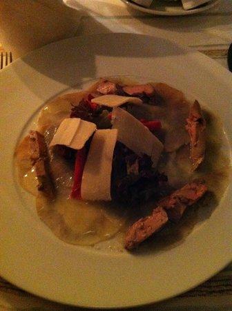 Les Jardins de la Medina : carpaccio d'artichaud , foie gras