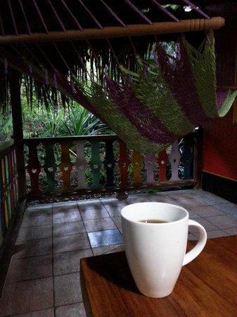 Hotel La Costa de Papito : Coffee on the porch was nice
