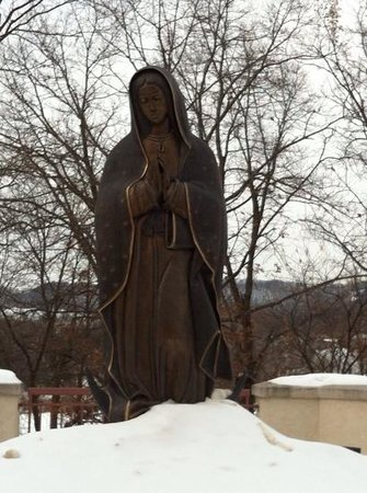 Shrine of Our Lady of Guadalupe: our lady of guadalupe sculpture