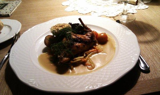 Masha Restaurant : Rabbit main meal