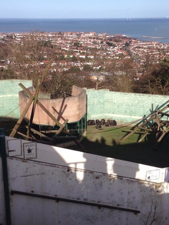 Welsh Mountain Zoo: Just one of the stunning views as you look down onto the chimpanzees