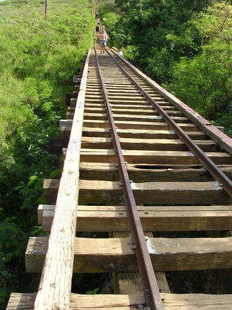 Koko Crater Trail: Careful on the bridge