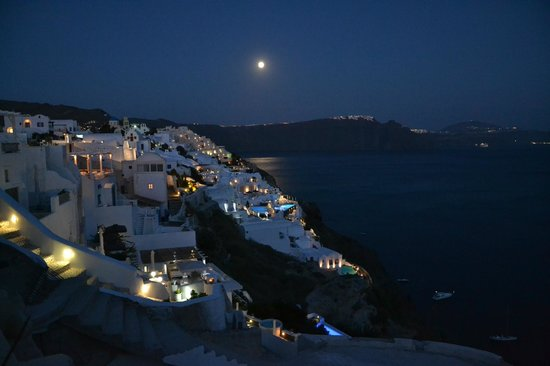 Maria's Place : Oia by night