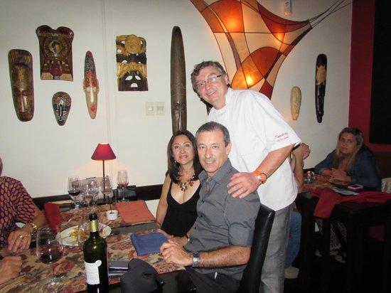 Restaurante Tandory: Atendimento pelo chef