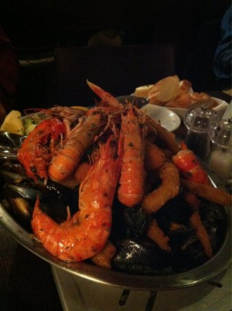 The Barge on the Brayford : Seafood Platter to share