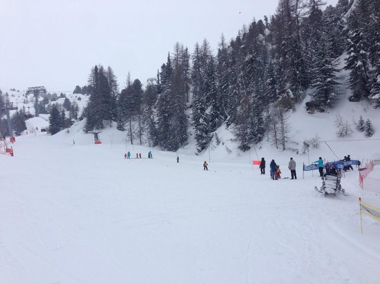 La Plagne Ski Resort: My 4 year old on a ski lesson