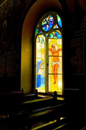 St Lucia by Kirk -  St Lucia Photo Tour: Church Window