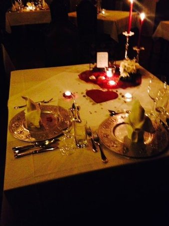 Hotel Schloss Thannegg: Romantic Valentines day dinner
