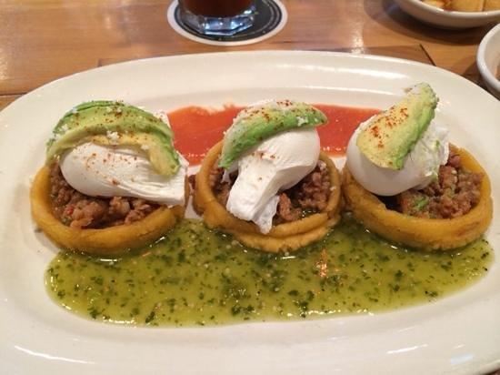 Lago Tacos: egg, chorizo, maze bowls.