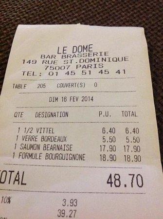 Le Dome: 1/2litro di acqua vittel 6,40€!! UN FURTO!!