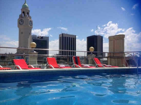 NH Buenos Aires City: great views from the roof top pool