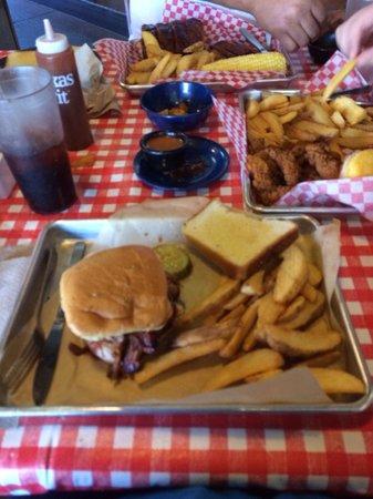 Famous Dave's: Brisket sandwich