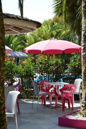 Hotel Le Servotel Castagniers : terrasse hotel