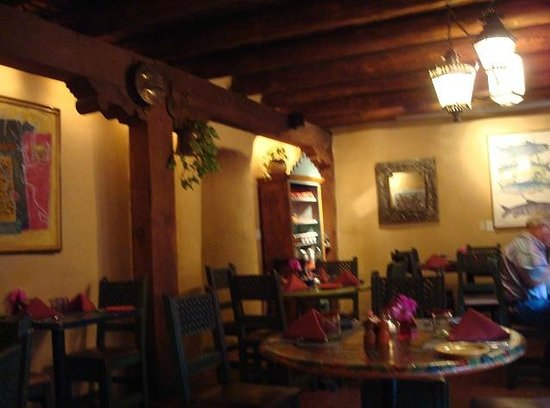 One of the dining rooms, Pink Adobe, Santa Fe, New Mexico