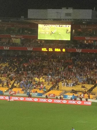 Westpac Stadium: Even the big screen at the far end is watchable!