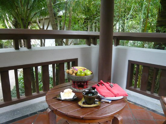 Muang Samui Spa Resort : Terraço do quarto