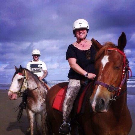Blazing Saddles: On the beach! Great Ocean Road
