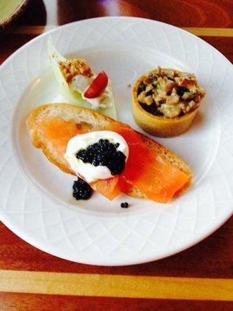 Schooners Coastal Kitchen & Bar: amuse Bouche 2-14-14