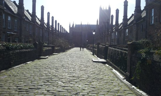 Vicar's Close on a sunny winter's day