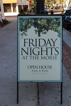 Charles Hosmer Morse Museum of American Art : Friday Nights are Free Sign