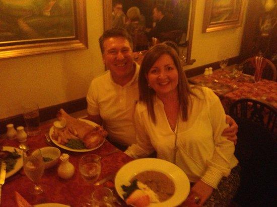 Black Bull Inn: Earlier at dinner