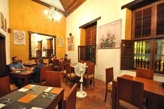 Ganesha Restaurante: Interior view of Ganesha Restaurant, Cartagena