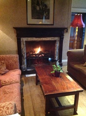 Holbrook House Hotel: afternoon cup of tea next to the open fire