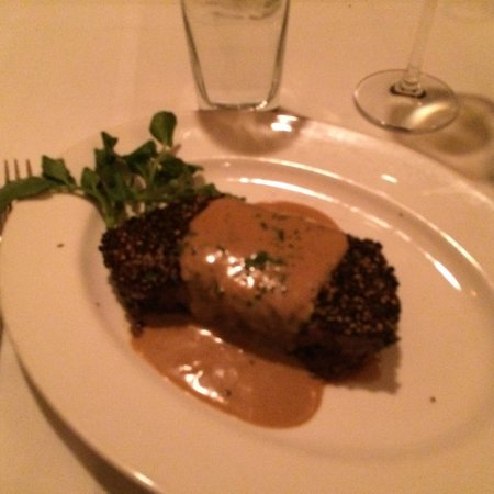 The Capital Grille: Dry Aged Steak au Poivre with Courvoisier Cream