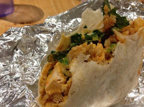 Bangkok Burrito (Red Chicken Curry) - Picture of World Street ...