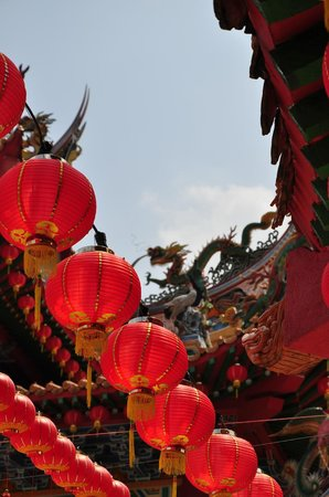 Thean Hou Temple : Dragon on the roof