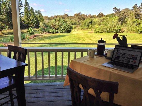 Kalaekilohana: This was the view at breakfast every morning.