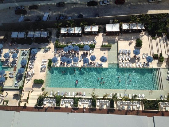 Secrets The Vine Cancun : The pools looking down from our suite