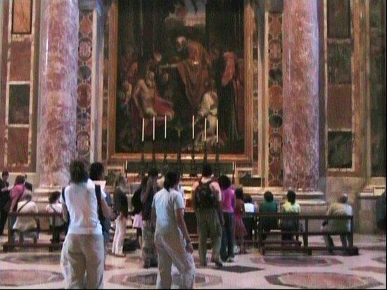 St. Peter Enthroned: Veduta dell'interno della Basilica di San Pietro