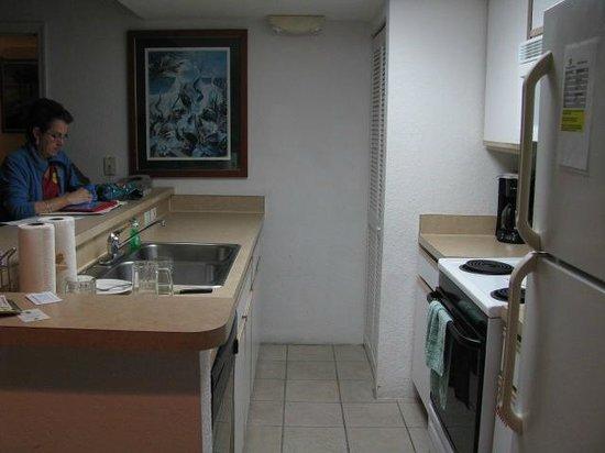 Sunrise Suites Resort : Kitchen and bar(left side)