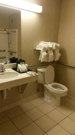 Country Inn & Suites By Carlson, Cincinnati Airport: Clean, spacious bath