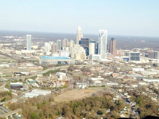 Queen City Helicopters: Heading toward Uptown CHarlotte