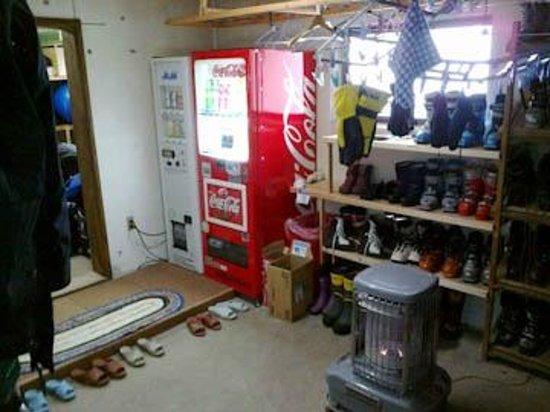 Pension Folk Tale: Beer & coke vending machine in dryng room!