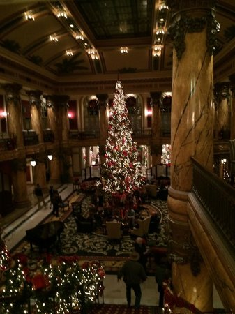 The Jefferson Hotel : The Jefferson decorated for the Christmas holiday