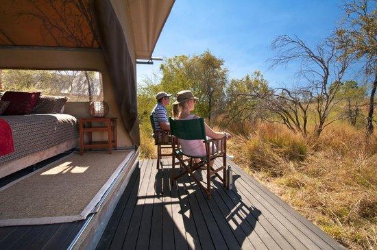 Bungle Bungle Wilderness Lodge: Each tented cabin has a private deck