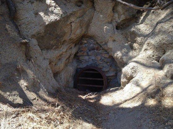 Coso Mine Loop Trail: Sealed mine.