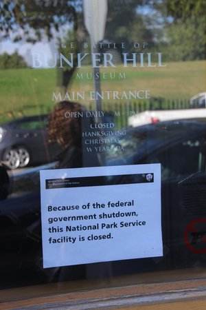 Bunker Hill Monument - Closed