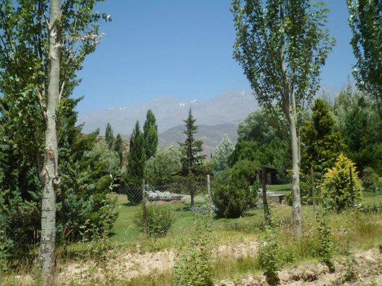 Cabanas Andinas: Vista desde los costados saliendo de cabañas andinas