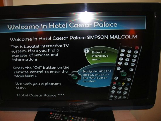 Hotel Caesar Prague: Interactive TV