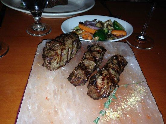 Little Mammoth Steakhouse: Ribeye Caps on Himalayan Salt Block