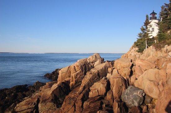 Bass Harbor Head Lighthouse Shoreline